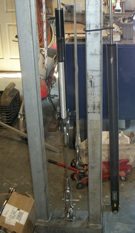 Hydraulic cylinder testing rig